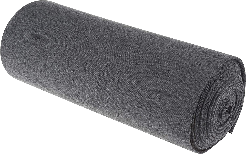 l 35 cm Blanc Jersey bord c/ôte /« Uni /» au m/ètre