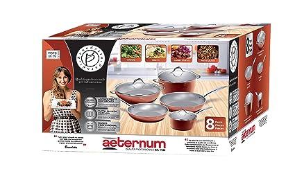 Aeternum y0e4set008 Silver Titanium Juego batería de sartenes y ollas 8 piezas, apto al inducción: Amazon.es: Hogar