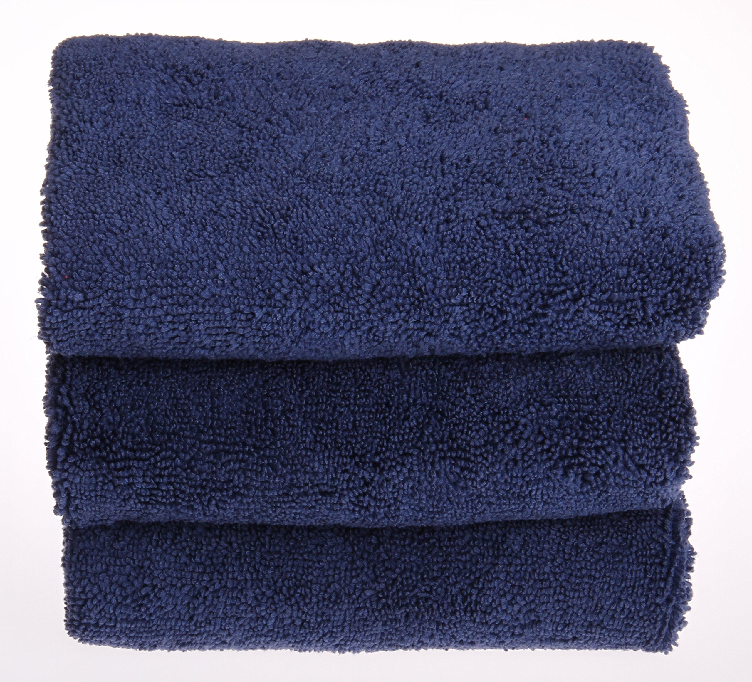UTowels 16''x16'', Pack of 24, Premium Microfiber Towels for Auto and Home - Navy Blue