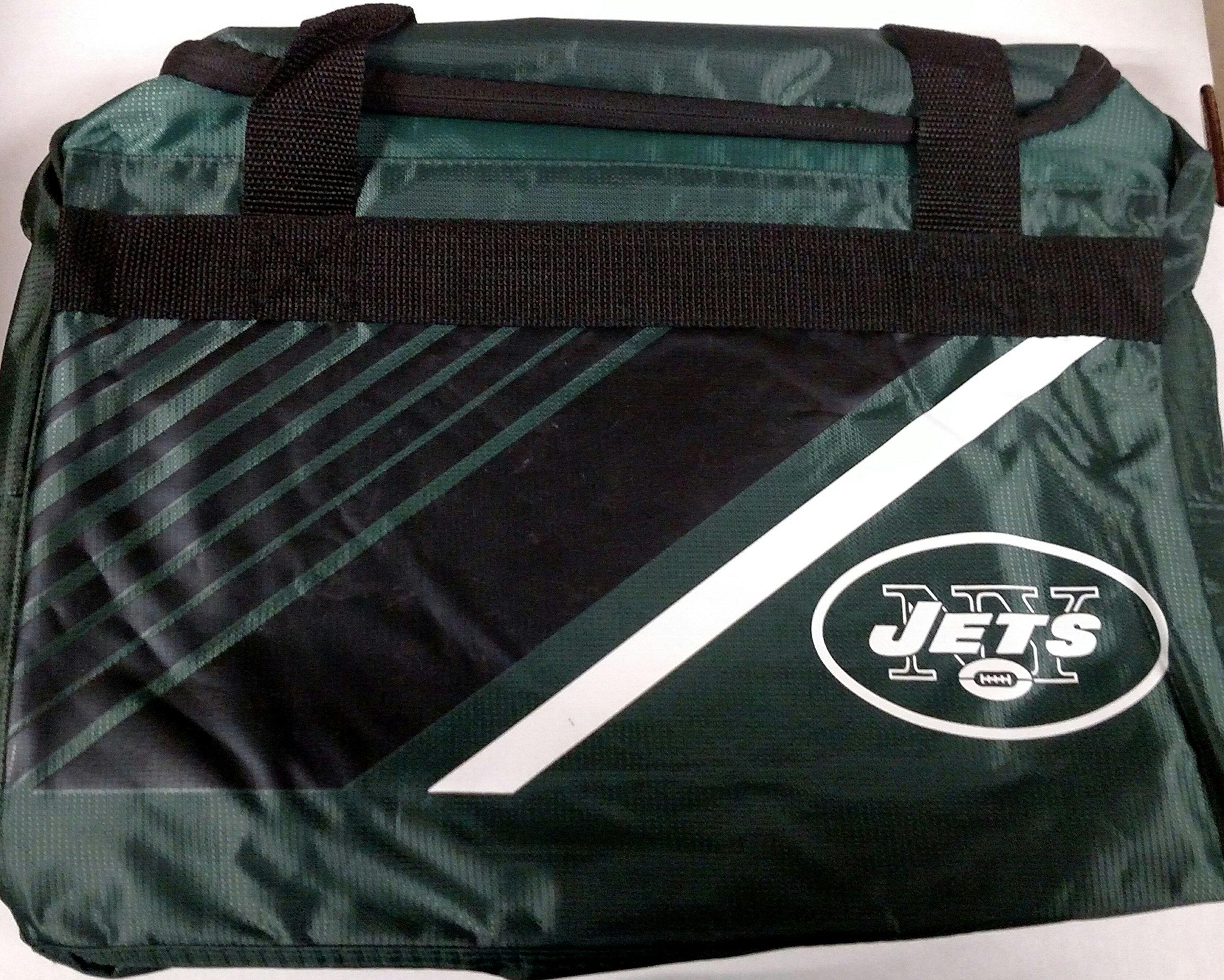FOCO New York Jets Border Stripe Duffle Bag