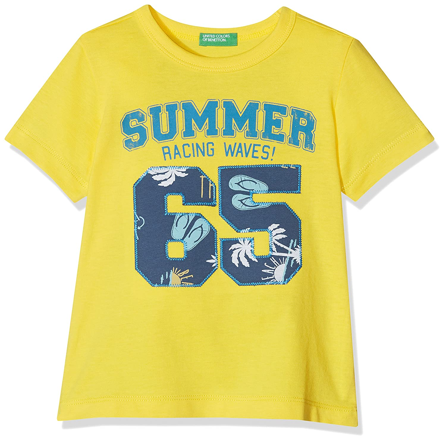 United Colors of Benetton T-Shirt Bambino Giallo (Dandelion 3n7) 3096C18YP