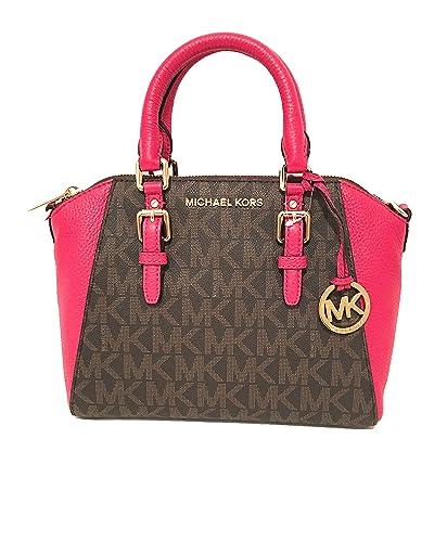 7b75200c49cfcf Michael Kors Women's Ciara Medium Messenger Bag Brown Lipstick ...