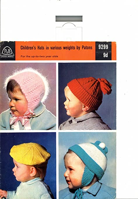 Knitting Pattern Babys Childs Hats Beret Bonnet Beanie Cap Patons ...