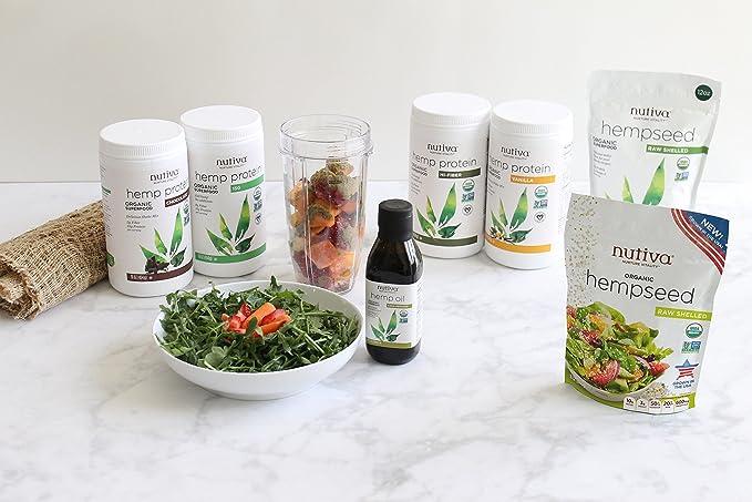 Nutiva Organic 454g Vanilla Hemp Shake Drink Mix: Amazon.es: Alimentación y bebidas