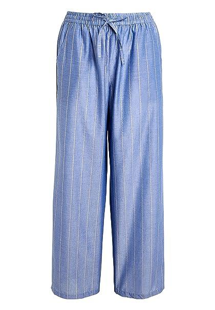 next Mujer Pantalones De Pijamas A Rayas con Brillos Azul EU 46 (UK 18)