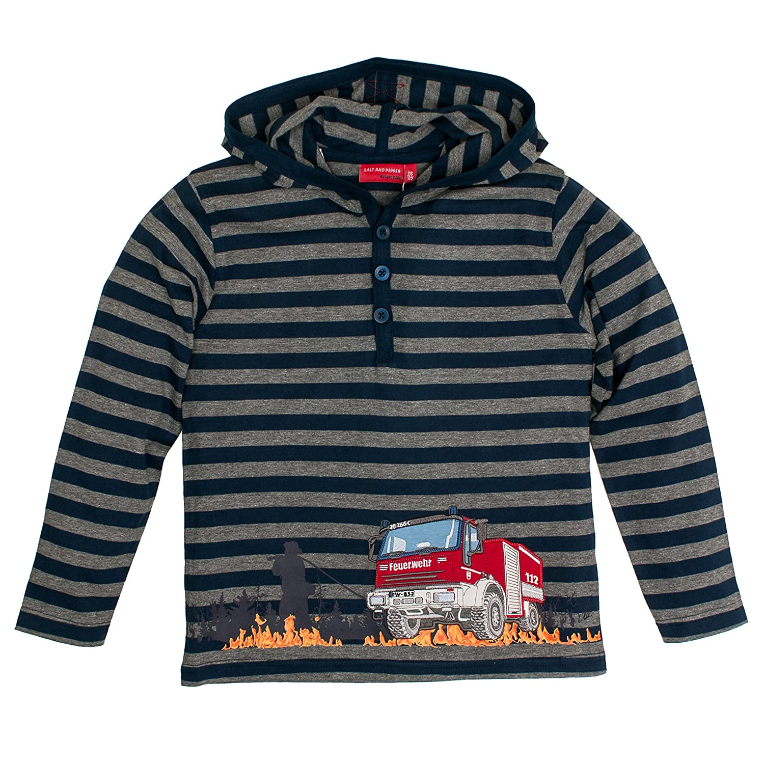 Salt & Pepper Boy's Fire Stripe Kap. Longsleeve T-Shirt SALT AND PEPPER 75111144
