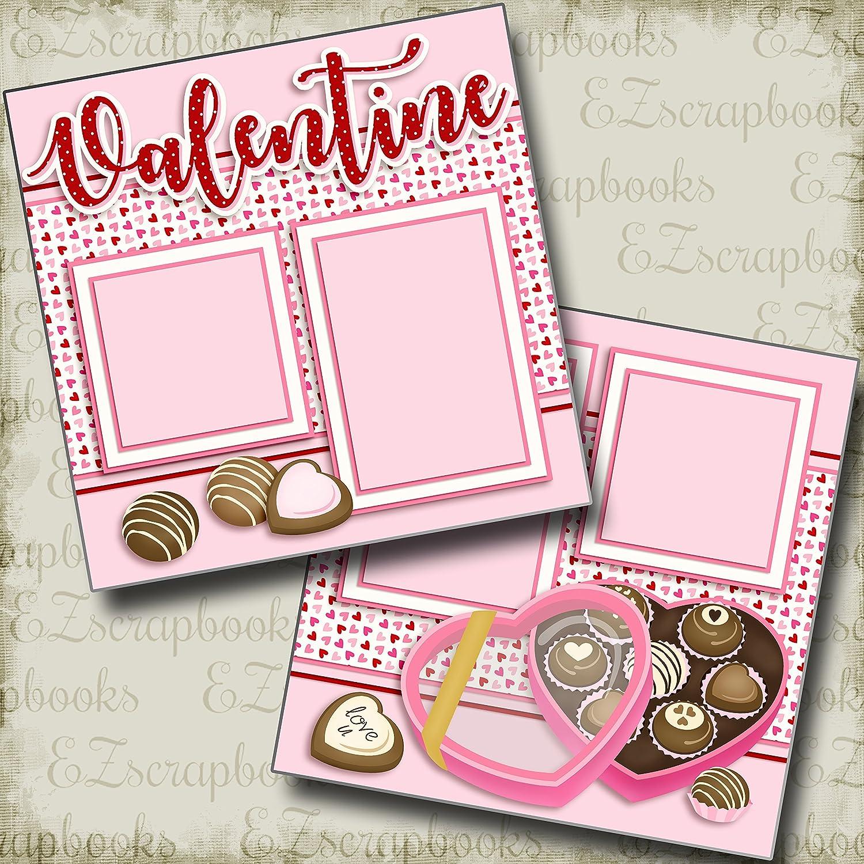 EZ Layout 2698 Premade Scrapbook Pages VALENTINE CANDY