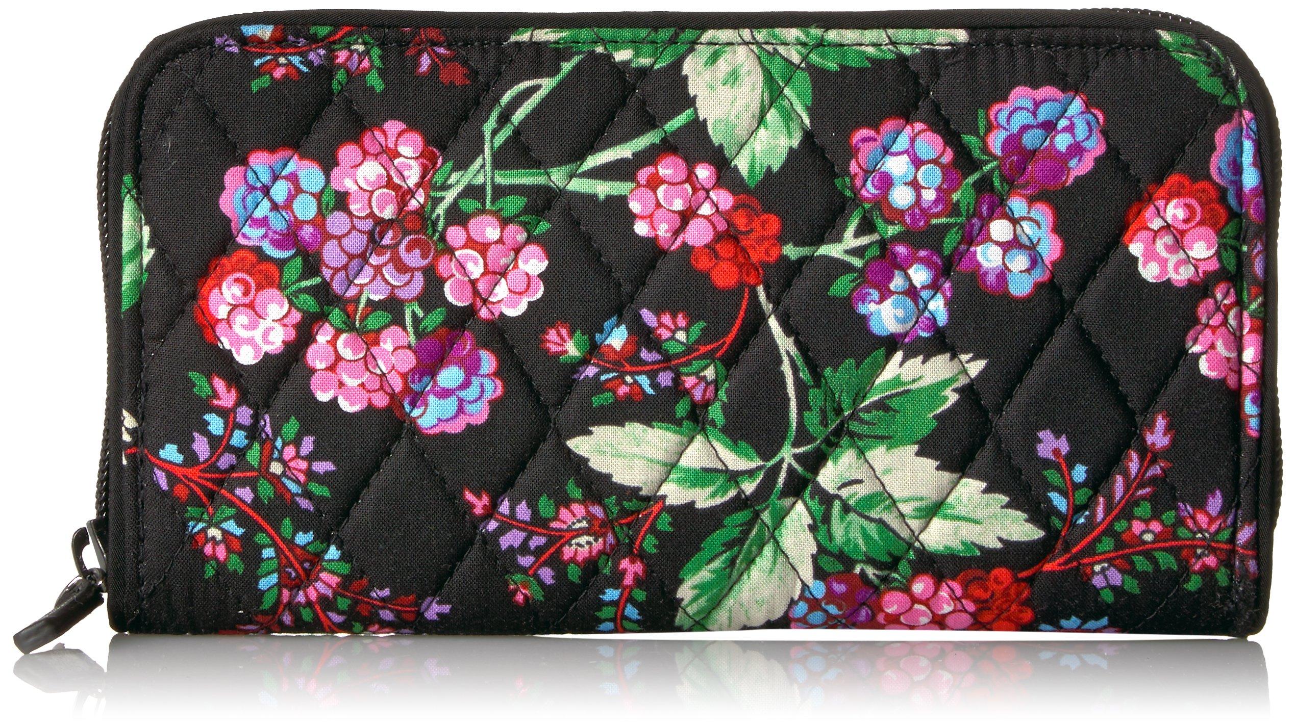 Vera Bradley Women's Rfid Georgia Wallet-Signature, Winter Berry, One Size