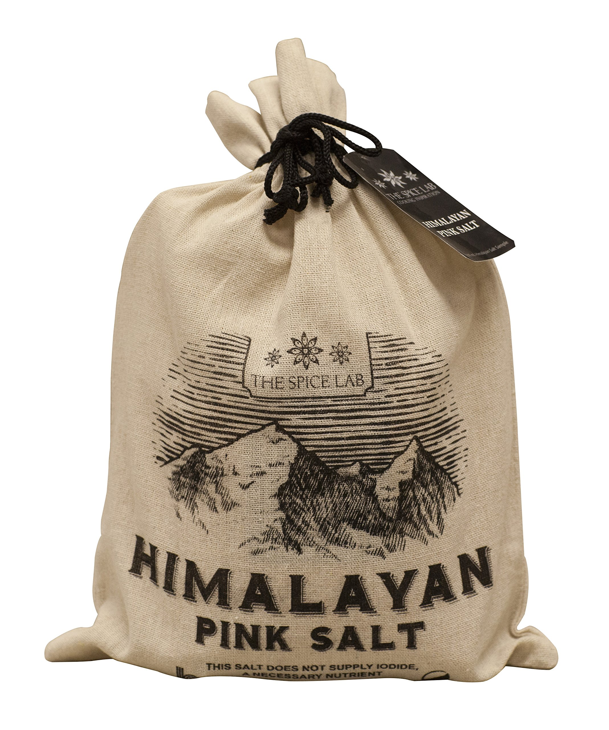 The Spice Lab's Pure Himalayan Salt - Finely Ground .5mm (5 Pound Gift Bag)