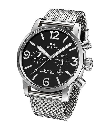 TW Steel Reloj Cronógrafo para Hombre de Cuarzo con Correa en Acero Inoxidable MB14: Amazon.es: Relojes