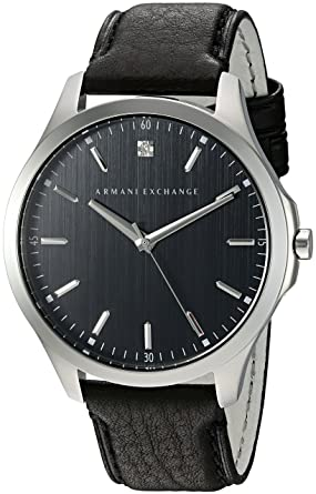 Image Unavailable. Image not available for. Color  Armani Exchange Men s  AX2182 Black leather Quartz Watch 35938ffa33