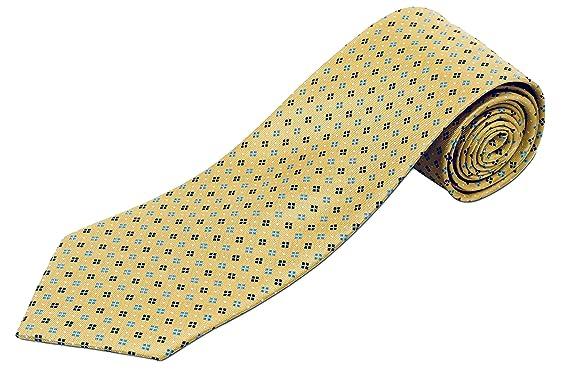 Seda 100% extra larga Corbata, diseño de formas geométricas ...