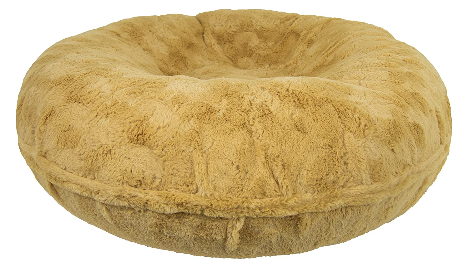 M- 36\ BESSIE AND BARNIE Signature Honeymoon Luxury Shag Extra Plush Faux Fur Bagel Pet Dog Bed (Multiple Sizes)