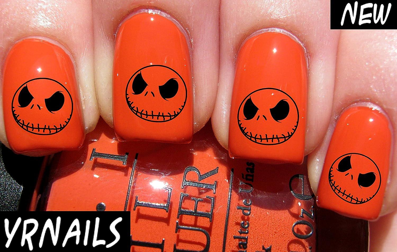 Halloween Jack skellington - Nail Decals by YRNails: Amazon.co.uk ...