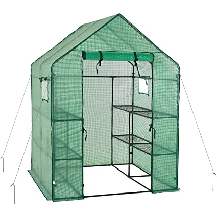 Amazon.com: Casa de jardín portátil con cubierta de ...