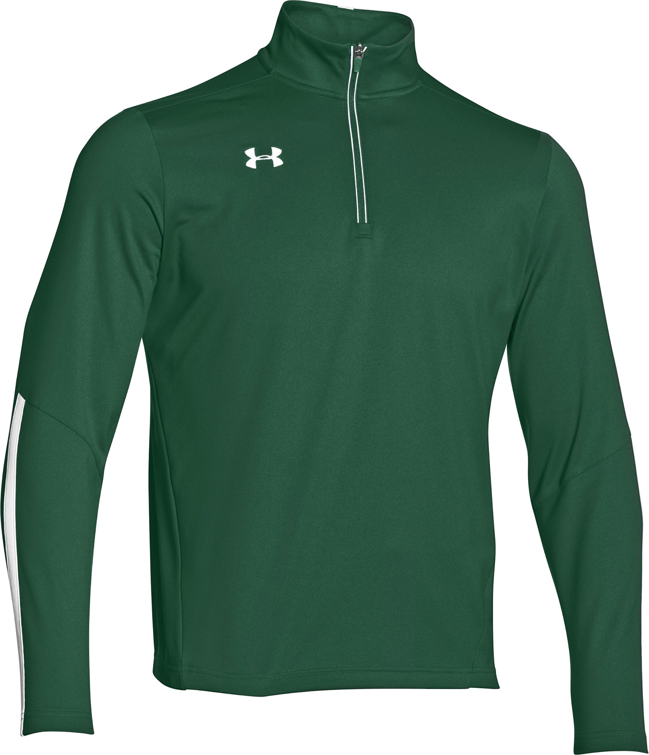 Under Armour Men's Qualifier 1/4 Zip Pullover (Small, Green/White) by Under Armour