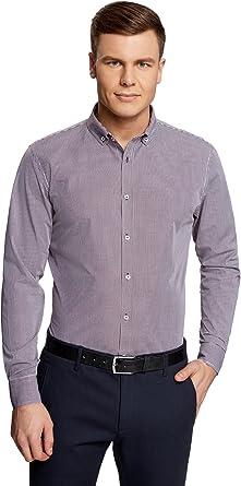 oodji Ultra Hombre Camisa Entallada a Cuadros Pequeños: Amazon.es: Ropa y accesorios