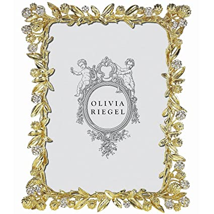 Amazon.com - CORNELIA GOLD Austrian Crystal 5x7 frame by Olivia ...