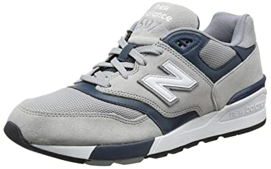 0b0cfd17b8b62 New Balance Men's ML597 Classic Running Fashion Sneaker, Grey/Dark Teal, ...