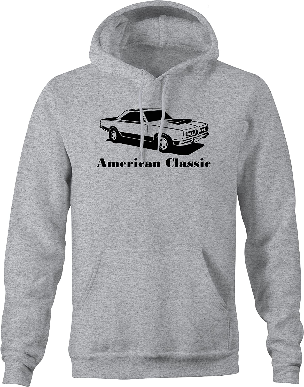 American Classic Cuda Muscle Car Hoodie for Men