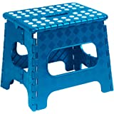 "Superio Folding Step Stool with Anti-Slip Surface 11"" - Blue"