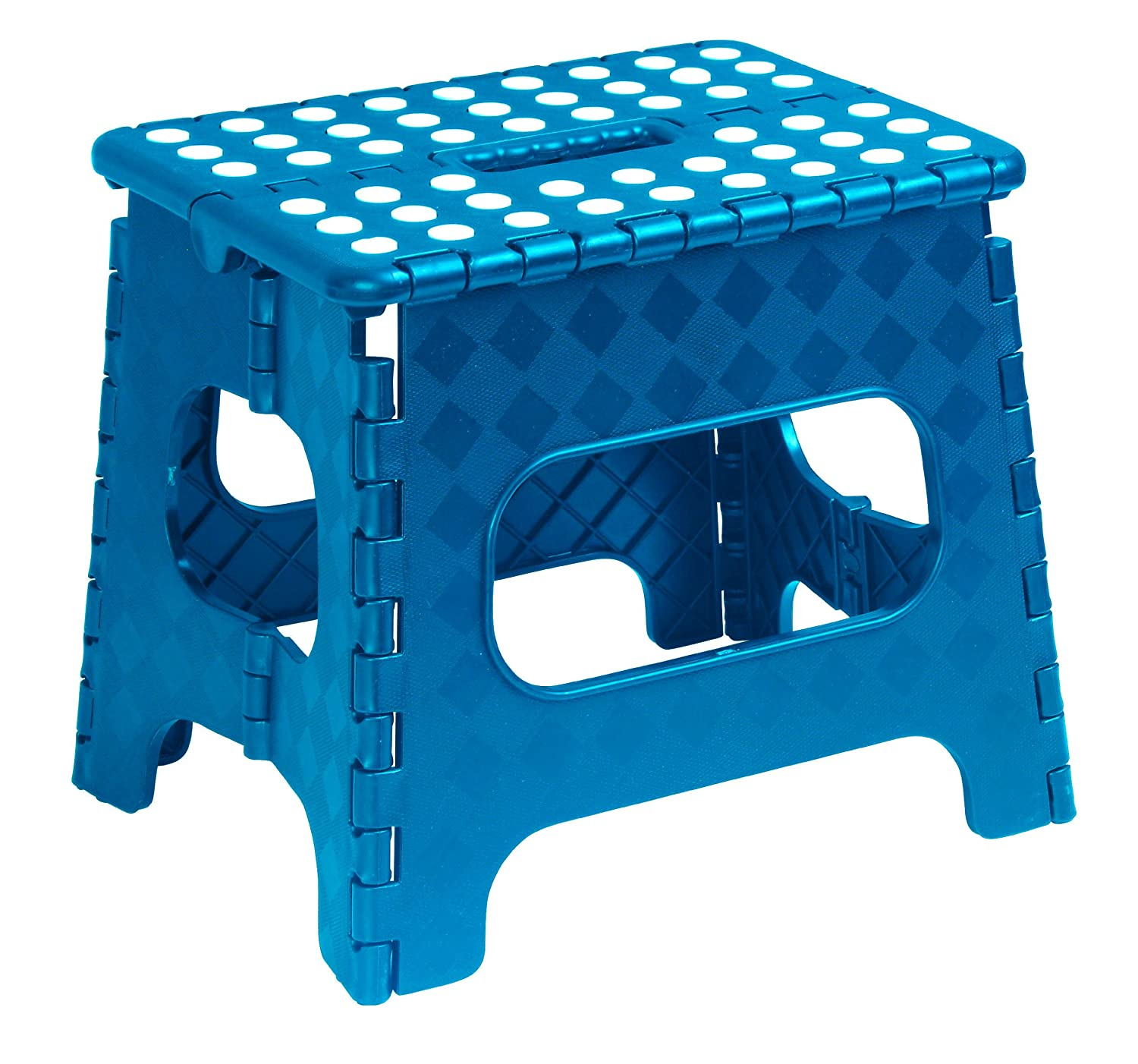 Amazon Folding Step Stool 11 Inch with Anti Slip Dots Black