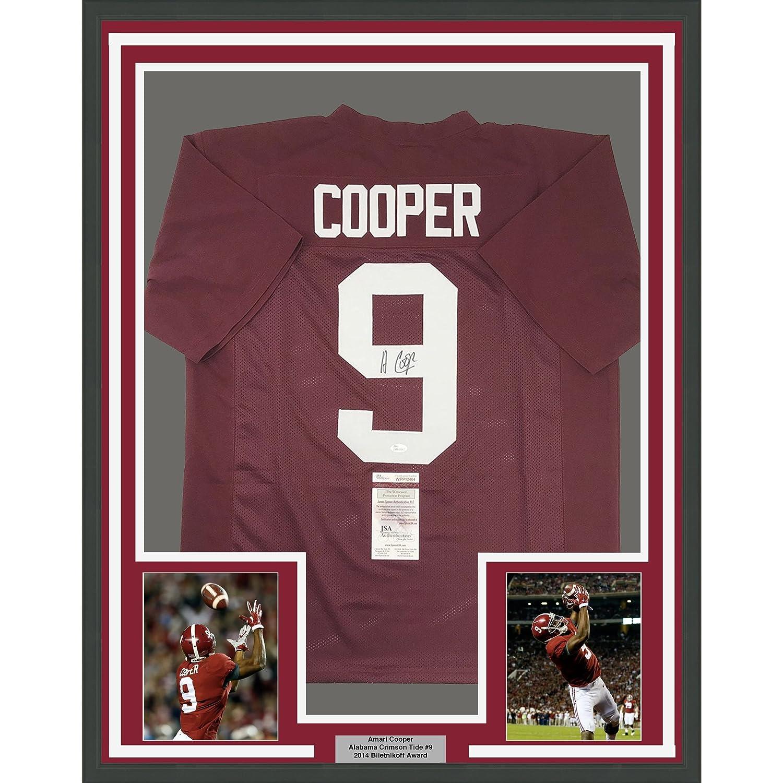 ... new zealand framed autographed signed amari cooper 33x42 alabama  crimson tide red college football jersey jsa d7ec333fb