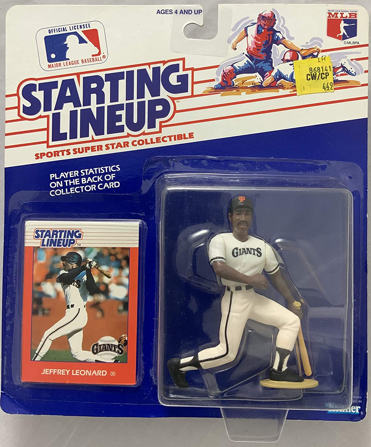 1988 KENNER STARTING LINEUP MLB JEFFREY LEONARD SAN FRANCISCO GIANTS MOC
