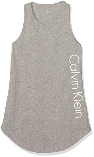 Calvin Klein Beach Tank Dress, Vestido para Niñas, Gris (Gray Heather 016), 104/110 (Talla fabricante: 4-5): Amazon.es: Ropa y accesorios