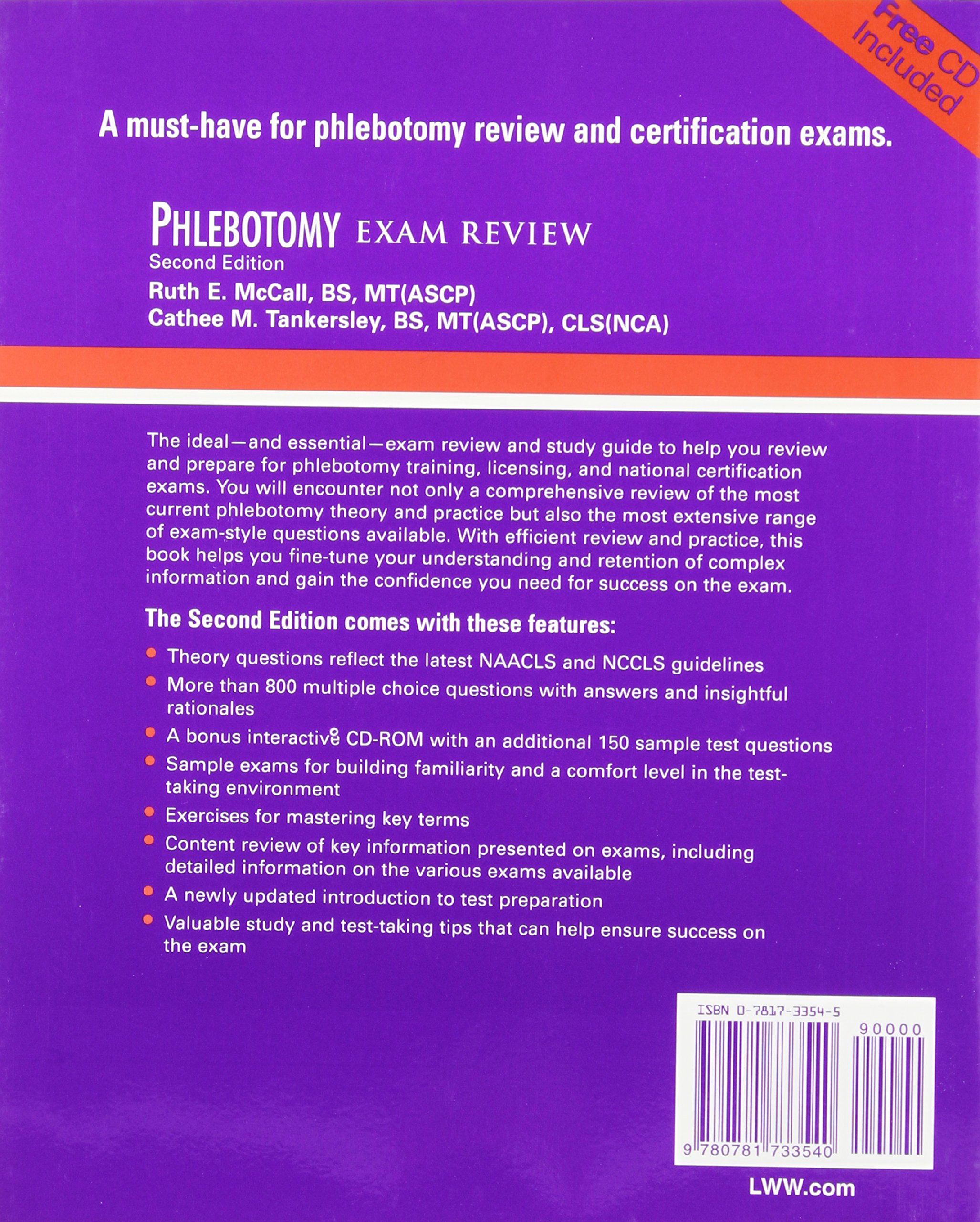 Phlebotomy essentials phlebotomy exam review ruth e mccall phlebotomy essentials phlebotomy exam review ruth e mccall cathee m tankersley 9780781750851 amazon books xflitez Image collections