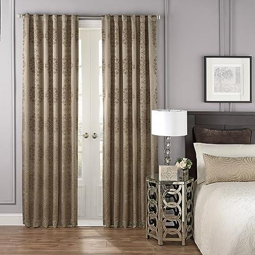 BEAUTYREST Blackout Curtains for Bedroom – La Salle 52 x 108 Insulated Darkening Single Panel-Rod Pocket Window Treatment, Mink