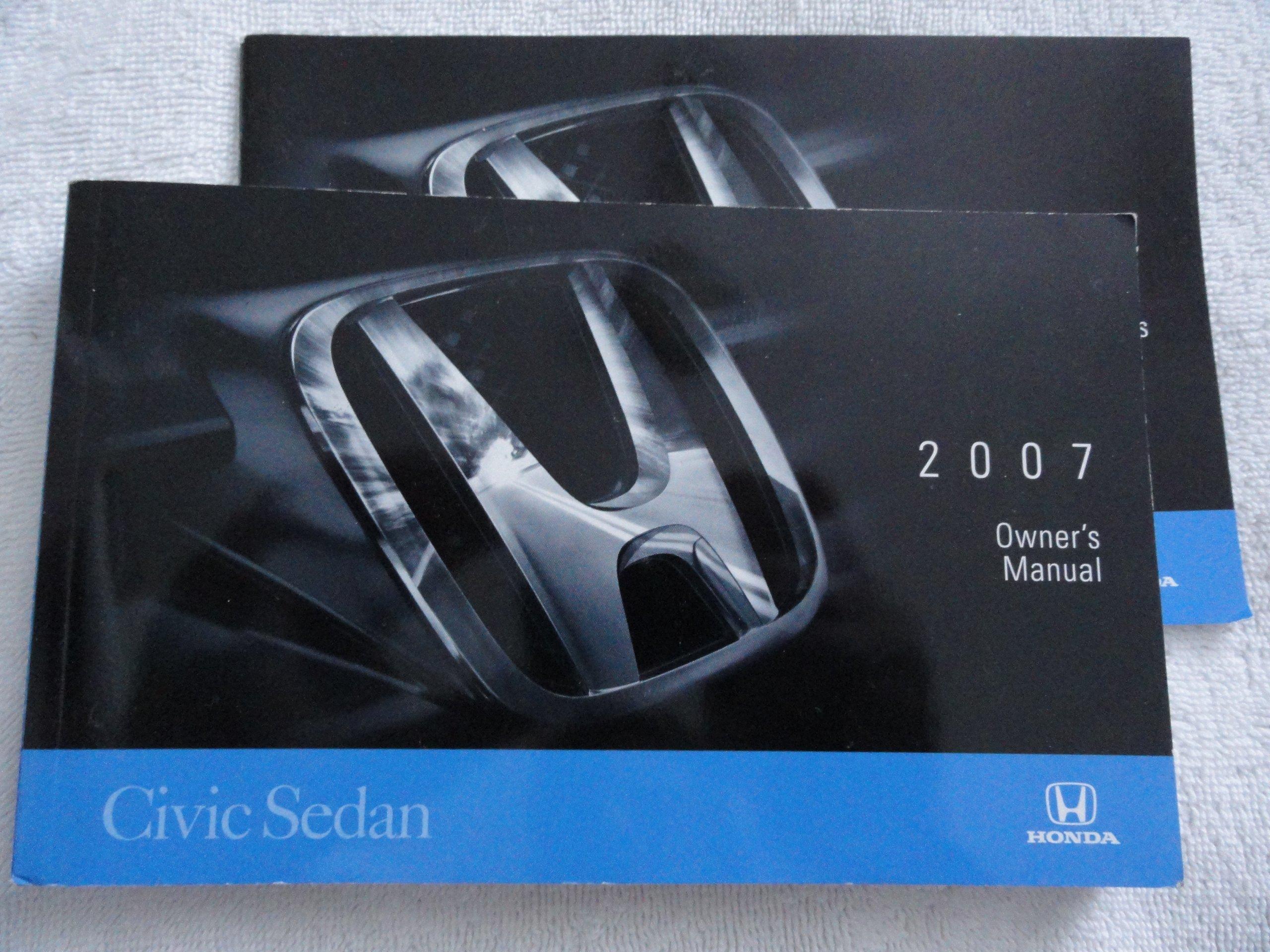 2007 honda civic sedan owners manual honda amazon com books rh amazon com 2007 honda civic ex owners manual 2007 honda civic lx owners manual pdf