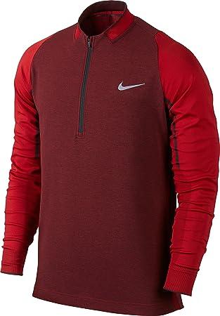Nike Men s Engineered Half-Zip Top Long Sleeve Shirt-University  Red Anthracite  5e16660ff