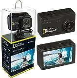 """National Geographic Action Cam Explorer 4 4K Ultra HD 30 FPS 170°, WLAN, 2.45"""" LCD, HDMI, 2 AKKUS + Powerbank und umfangreiches Zubehör"""