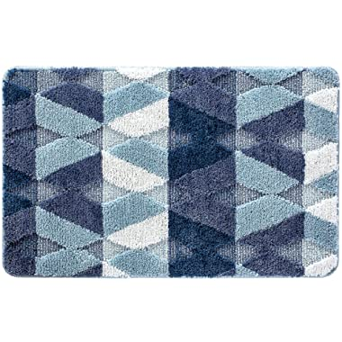 Varma Indoor Door Mat Non Slip Rubber Back Door Rug Inside Doormat Water Absorbent Machine Washable Entrance Door Floor Mat, Blue, 20 X 31.5 Inches