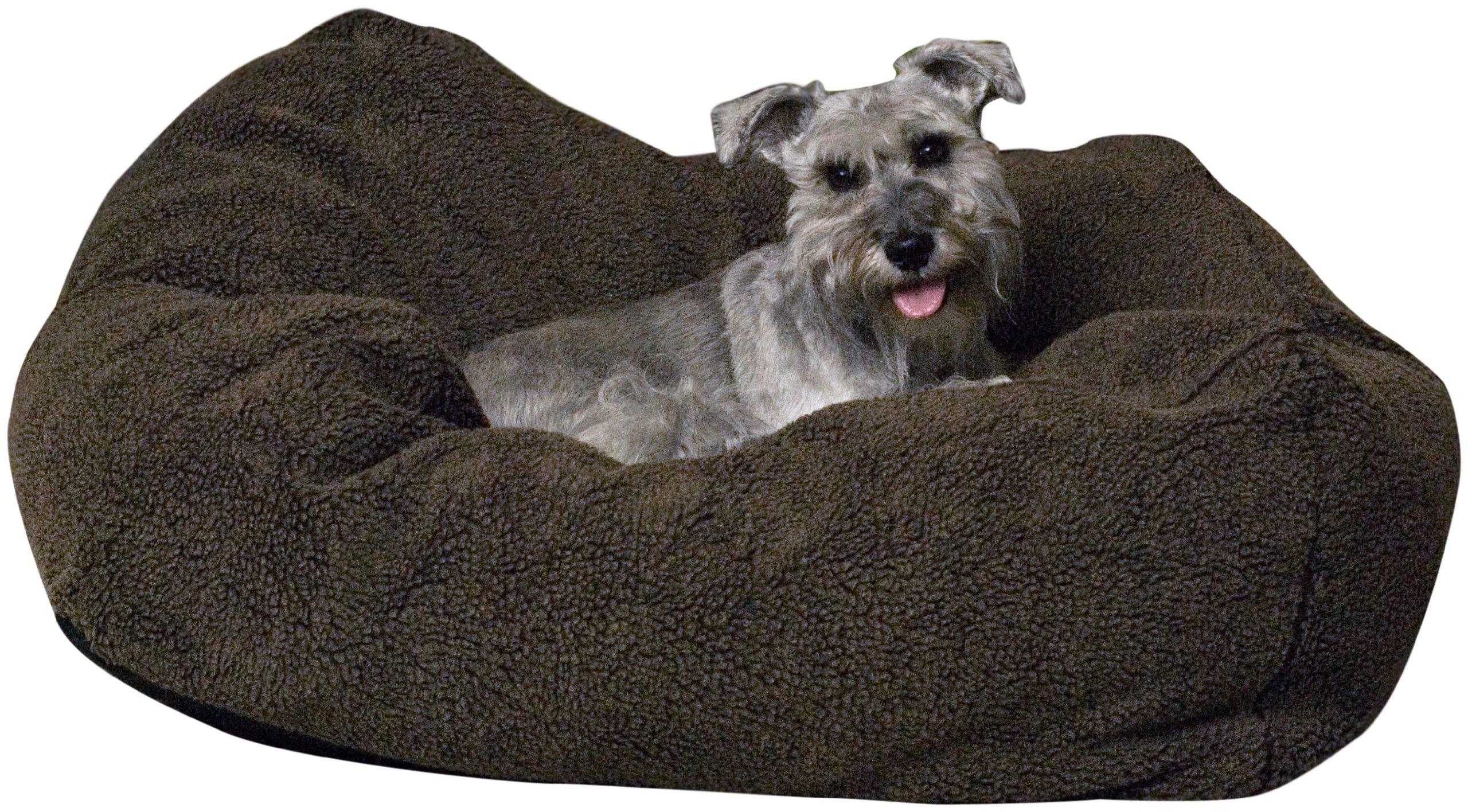 K&H Pet Products Cuddle Cube Pet Bed Large Mocha 32'' x 32''