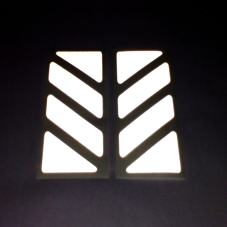 Aluminio Top Case 2pcs RIFRANGENTI ADESIVI сompatible con GIVI Ba/úl Trekker Outback Monokey 37 42 48 L Yellow 020