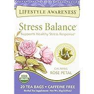Lifestyle Awareness Teas, Caffeine Free Stress Balance Tea, 20 Count