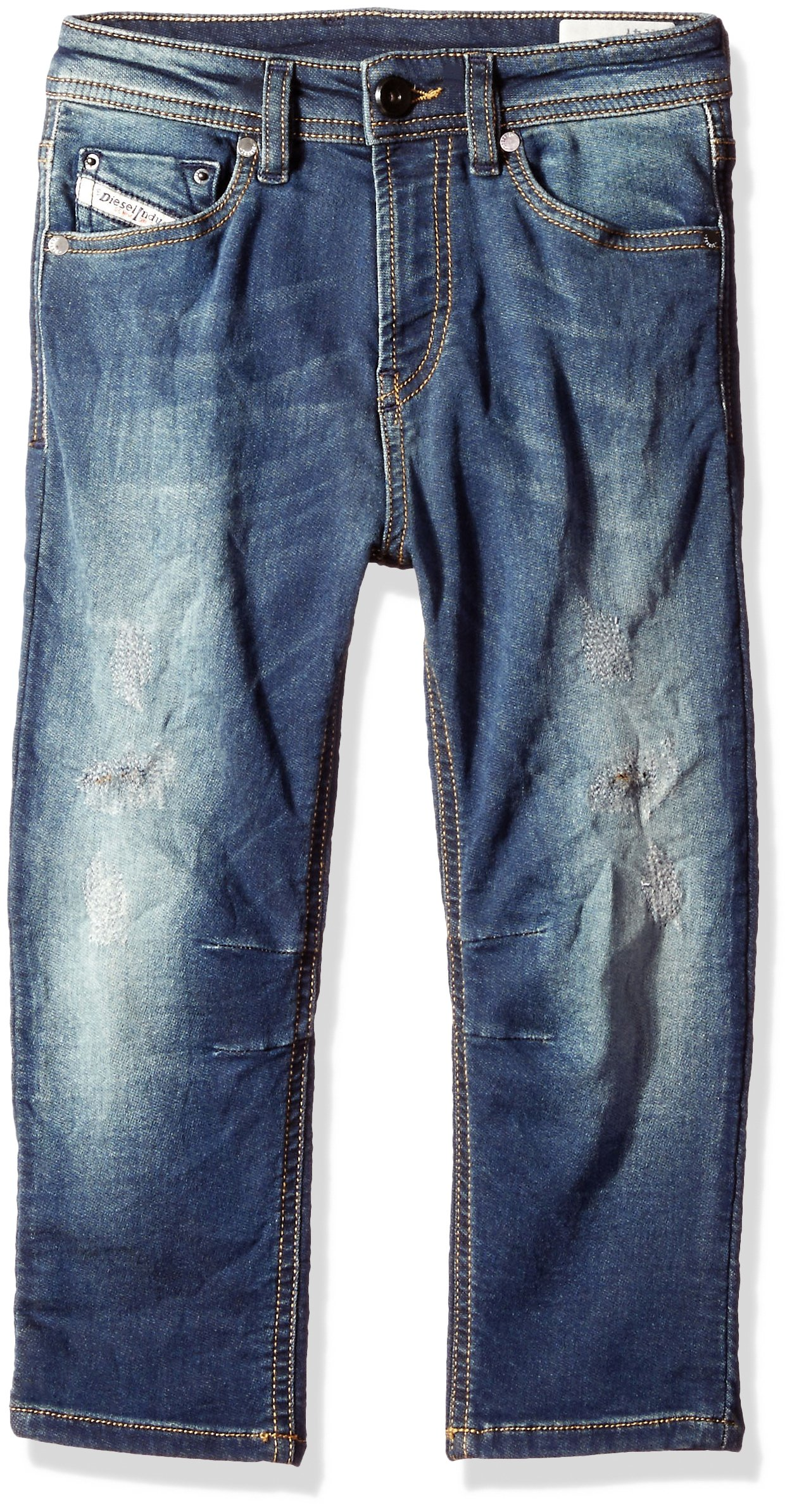 Diesel Big Boys' Narrot-R J S Regular Carrot Leg JoggJeans, Denim, 12
