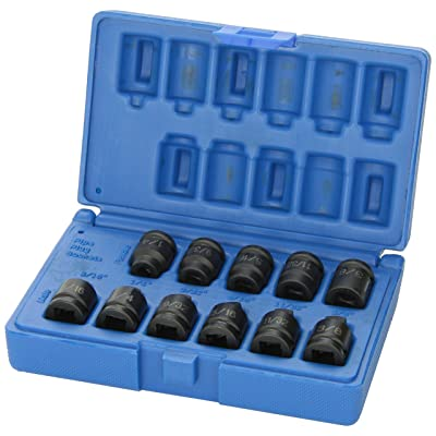 "Grey Pneumatic (1211P 3/8"" Drive 11-Piece Pipe Plug Socket Set: Automotive"