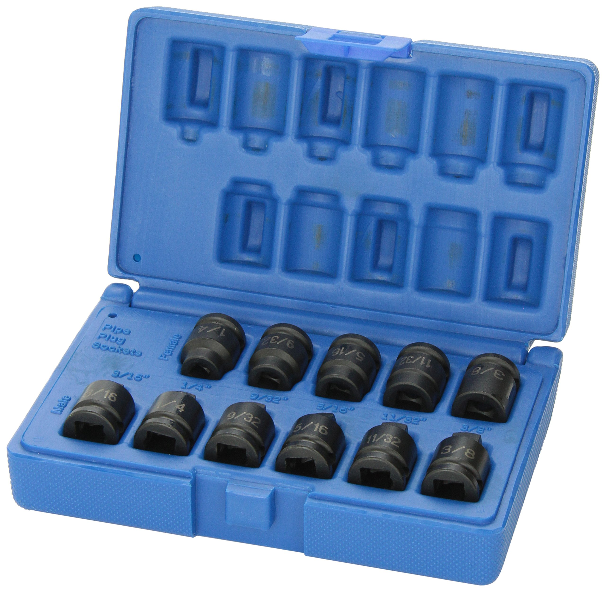 Grey Pneumatic (1211P 3/8'' Drive 11-Piece Pipe Plug Socket Set by Grey Pneumatic