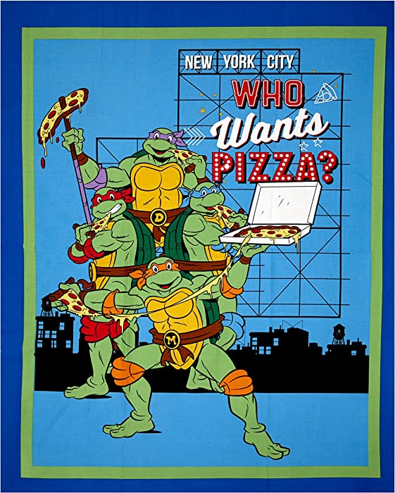 Top 10 Ninja Turtles Fabric Panel