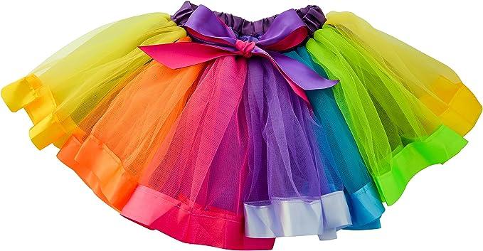 Dancina Falda Tutú Arco Iris de Ballet para Bebés 6-24 Meses Arco ...