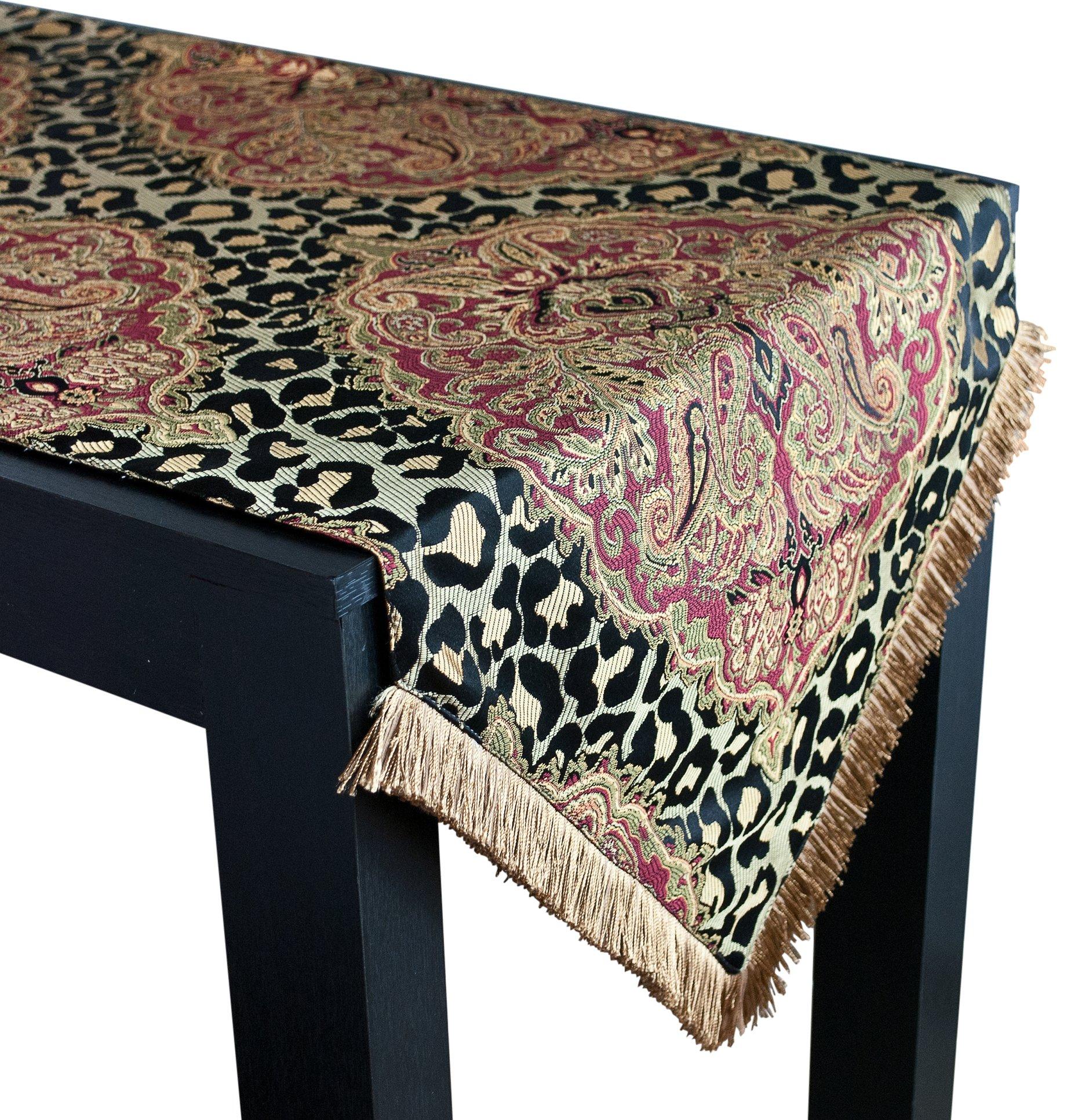 Sherry Kline Tangiers Luxury Table Runner, 18'' X 108'', Black/Multicolor