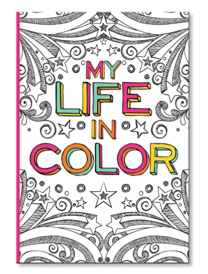 Amazon.com: C.R. Gibson Coloring Journal Book, 160 Page Coloring ...