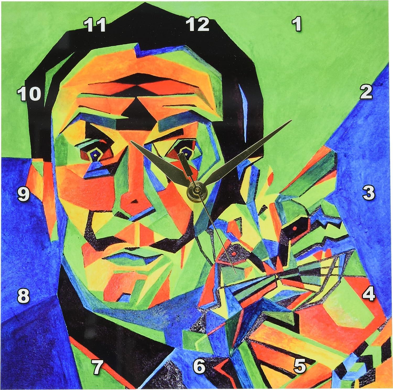 dpp _ 18275 arte de acrílico Taiche - Salvador Dalí abstracta - relojes de pared, 10x10 Wall Clock: Amazon.es: Hogar