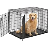 Ultima Pro (Professional Series & Most Durable MidWest Dog Crate) Extra-Strong Double Door Folding Metal Dog Crate w…