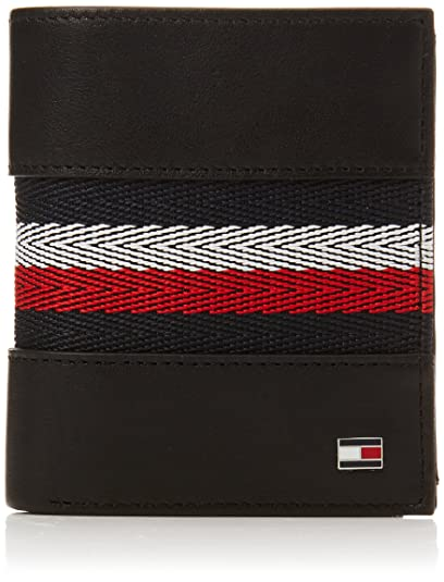 Tommy Hilfiger - Corp Webbing Ns Trifold, Carteras Hombre, Negro (Black),