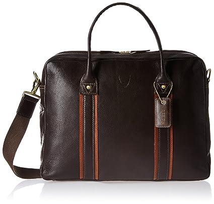 940baecf16 Hidesign Leather 21 cms Brown Messenager Bag (Corvette 01-Regular Roma-Brown  Tan)  Amazon.in  Bags