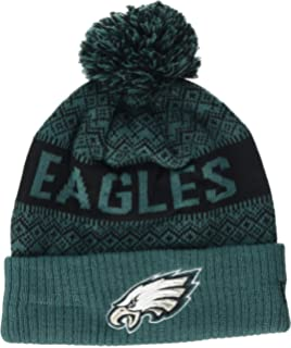 180de38ae0101b New Era NFL Sideline 2018 Bobble Beanie Philadelphia Eagles: Amazon ...